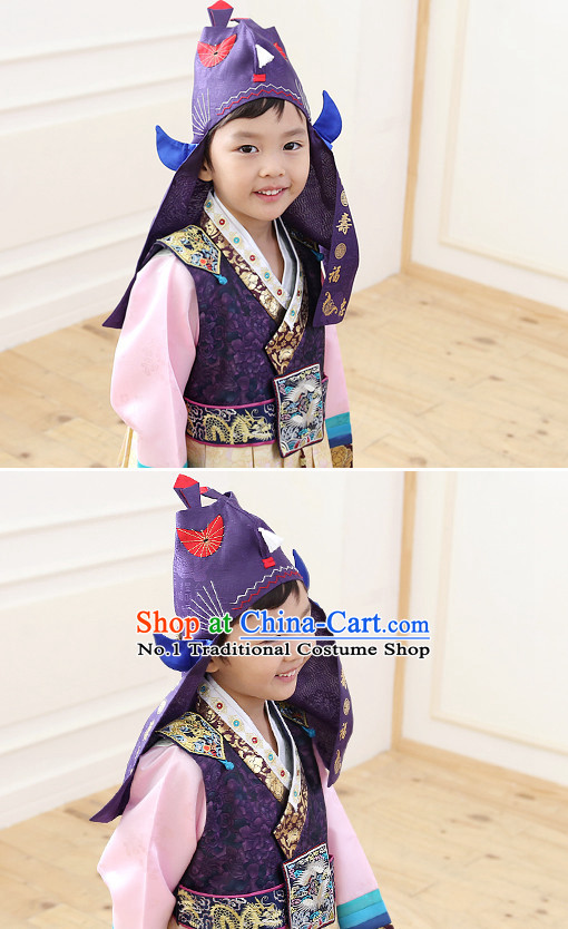 Korean Traditional Hanbok Kids Birthday Ceremony Hat