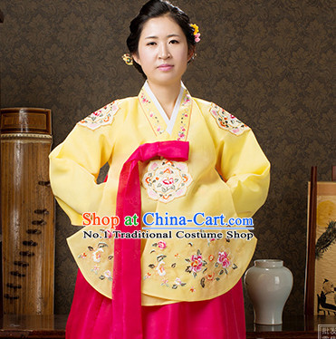 Korean Traditional Official Female Dangui Hanbok Clothing Complete Set