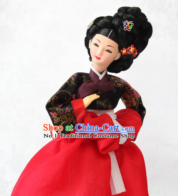 Korean Traditional Silk Figurine