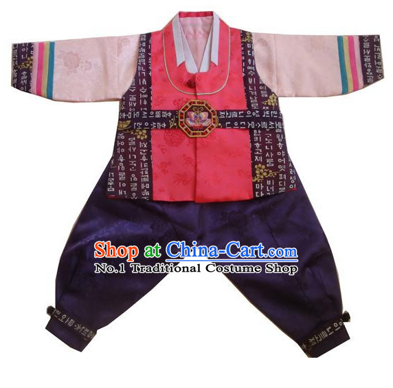 Traditional Korean Clothing Custom Made Boys Hanbok for Birthday