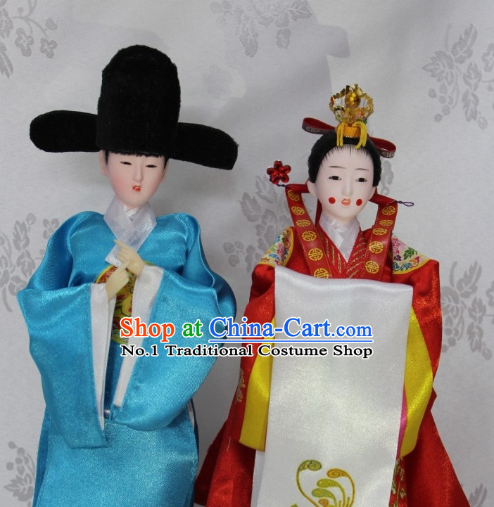 Korean Traditional Wedding Couple Statues Arts