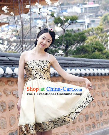 Korean Party Ball Modern Hanbok for Girls