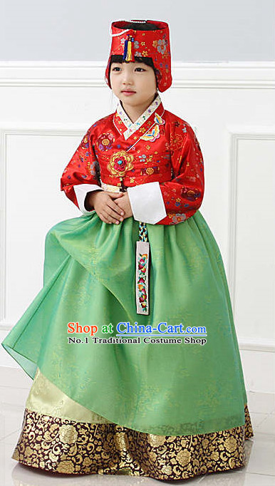 Top Korean National Costumes Kids Fashion Traditional Korean Clothing