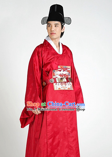Asian online Shopping Korean Ancient Official Costumes and Hat for Men