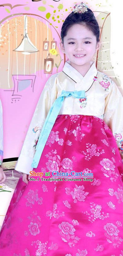 Korean Traditional Hanbok Clothing Complete Set for Girls