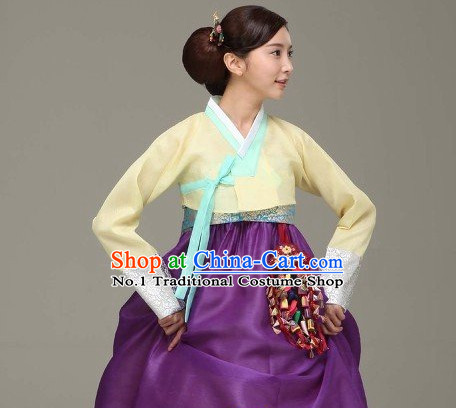 Top Korean Traditional Custom Made Modern Hanbok Skirt Complete Set for Women