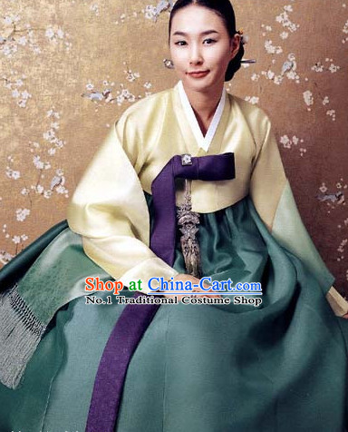 Top Korean Traditional Custom Made Hanbok Clothes Complete Set for Women