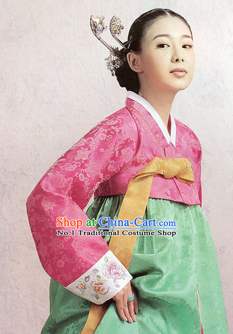 Top Korean Traditional Hanbok Dress Complete Set for Women