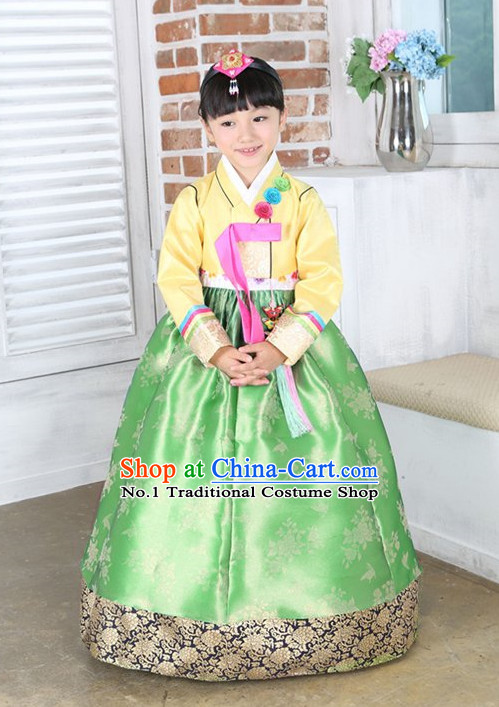 Top Korean Traditional Custom Made Birthday Hanbok Complete Set for Girls
