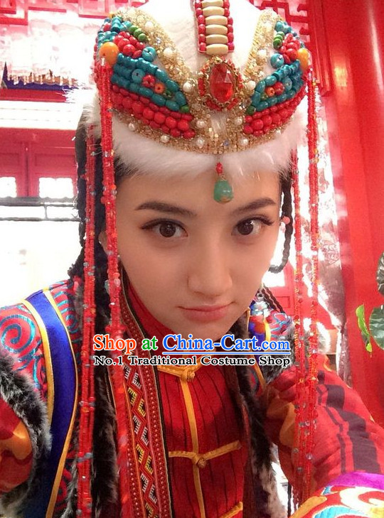 China Ancient Mongolian Princess Hat