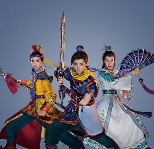 Asian Fashion Traditional Chinese Knight Fan Costume for Men _the right one_