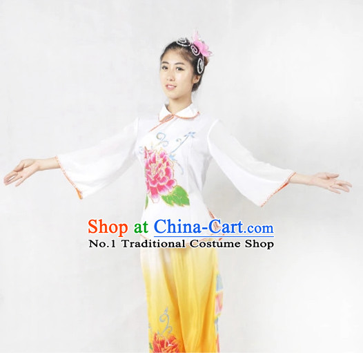 Chinese Fan Dancewear and Headgear for Women