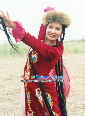 Chinese Ethnic Costume Contemporary Costumes and Headwear for Women