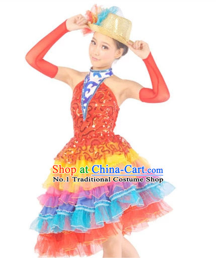 Chinese Dance Costume Contemporary Costumes and Headwear for Women