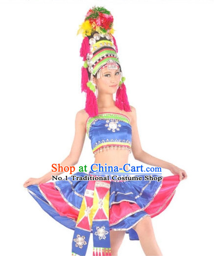 Asian Fashion Chinese Dance Costumes for Ethnic Women