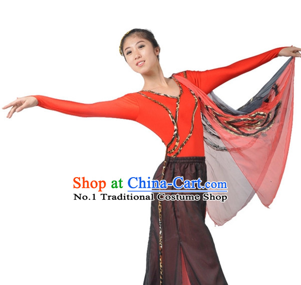 Chinese Dance Costumes Complete Set for Women