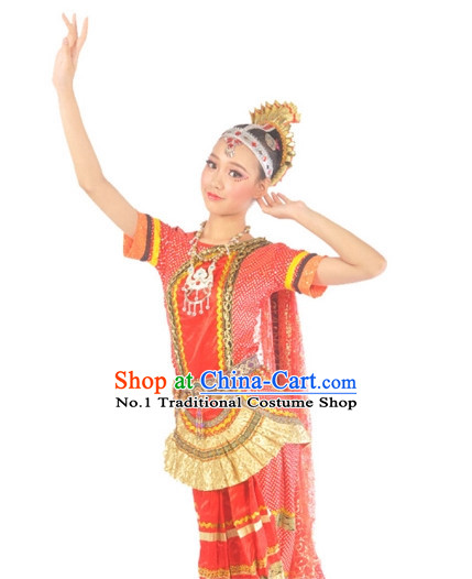 Indian Girls Dancewear Dance Costumes Complete Set for Women