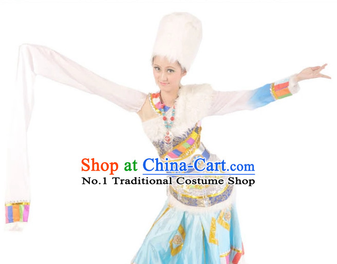 China Shop Chinese Tibetan Dance Costumes Complete Set for Women