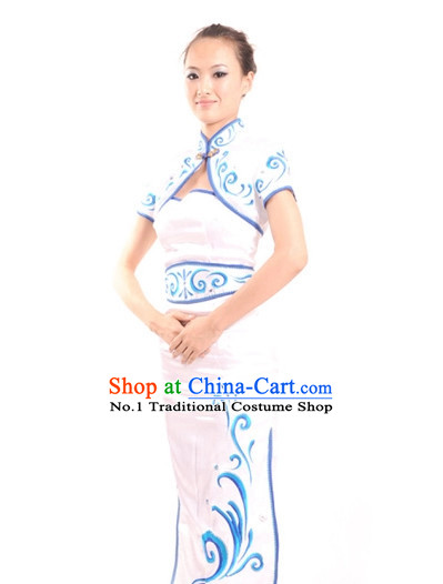 China Shop Chinese Fan Dance Costumes Girl Dancewear for Women