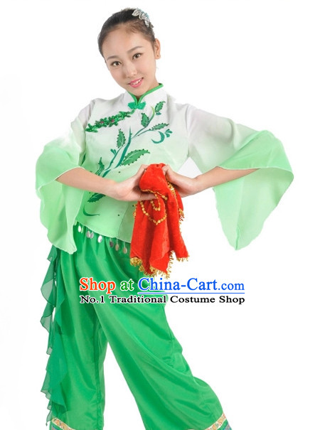 China Shop Chinese Classic Fan Dance Costumes Girl Dancewear for Women