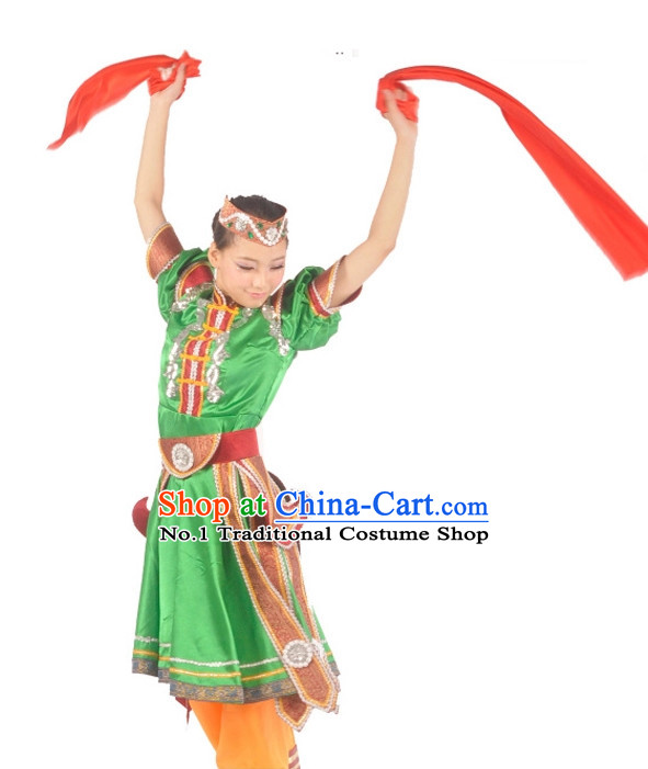 Custom Made Chinese Mongolian Dance Attire Costumes for Women