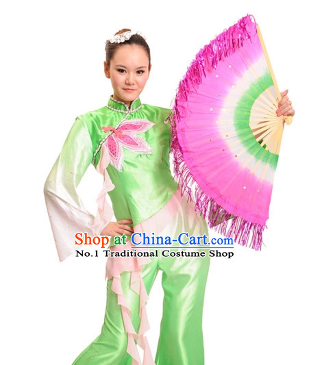 China Shop Chinese Fan Dancing Costumes Girl Dancewear for Women