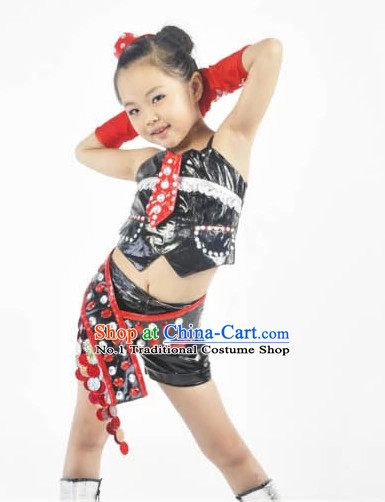 Custom Made Chinese Modern Group Dance Costumes for Kids