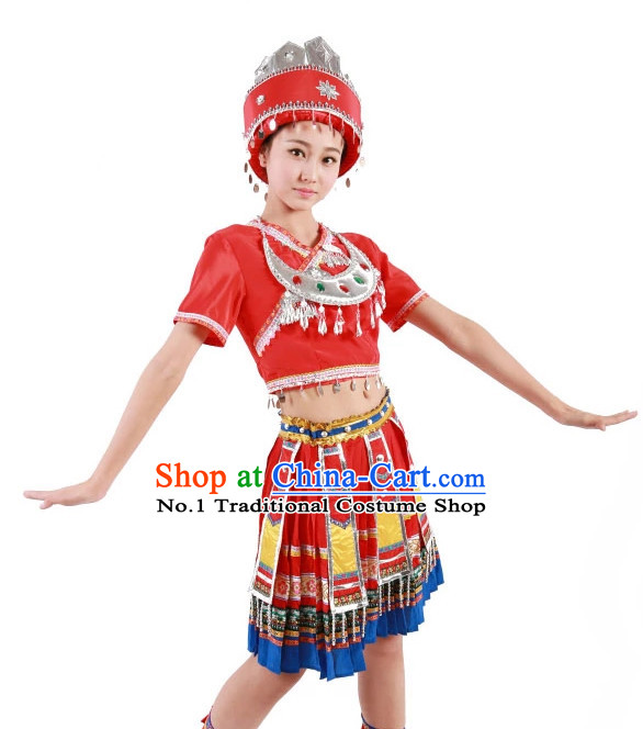 Custom Made Chinese Miao Minority Group Dance Costumes for Women