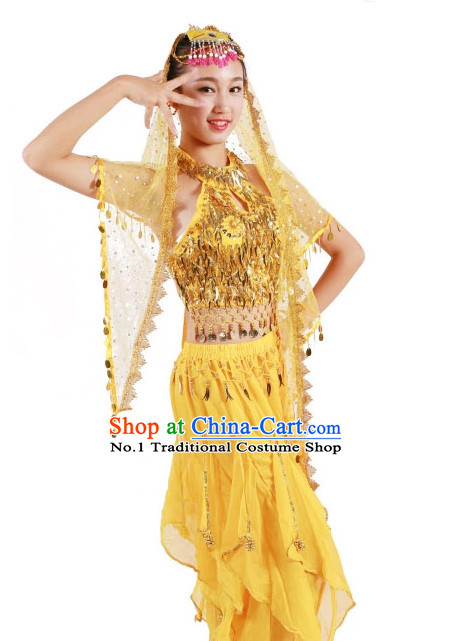Custom Made Chinese Indian Group Dance Costumes for Teenagers