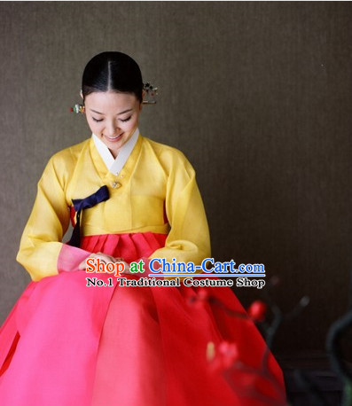 Korean Formal Dresses Costumes Hanboks Complete Set for Ladies