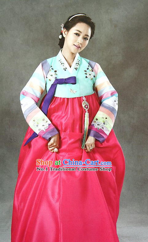 Korean Mother of the Bride Dresses Hanboks Complete Set