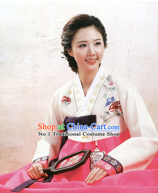 Korean Mother of the Bride Dress Hanboks Complete Set