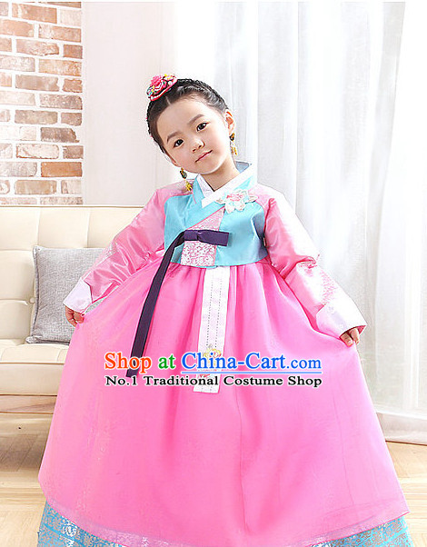 Top South Korean Kids Hanbok Clothing Complete Set