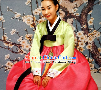 Traditional Korean Female Hanbok Outfit Complete Set