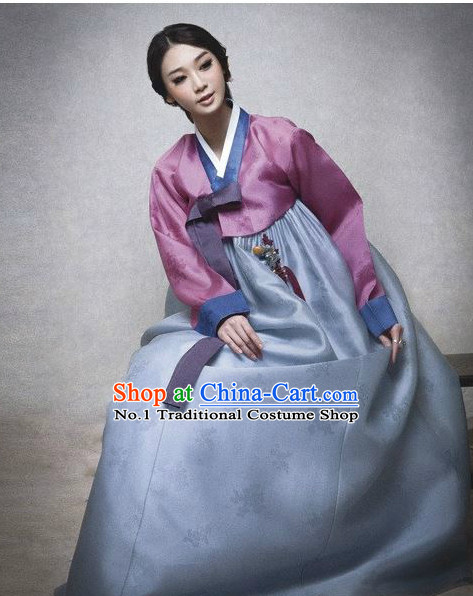 Traditional Korean Lady Hanbok Traditional Dresses Complete Set