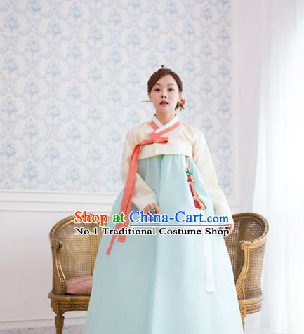 Traditional Korean Lady Hanbok Traditional Outfit Complete Set