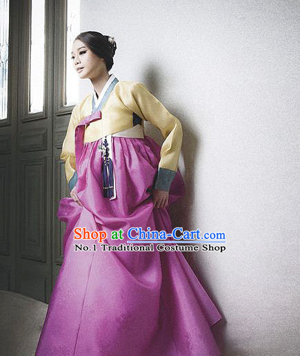Korean Women Fashion Traditional Hanbok Wedding Clothing Complete Set