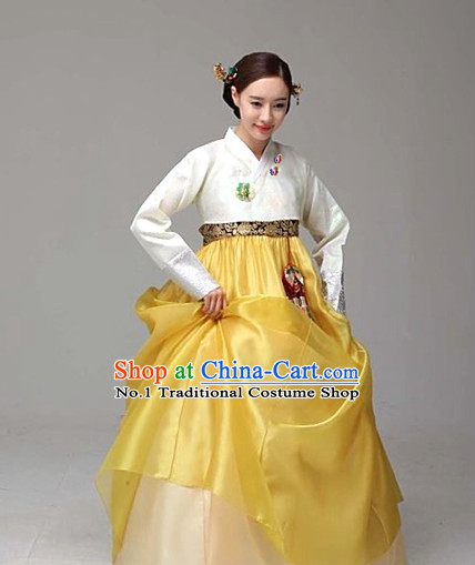 Korean Fashion Traditional Hanbok Dress Complete Set for Women
