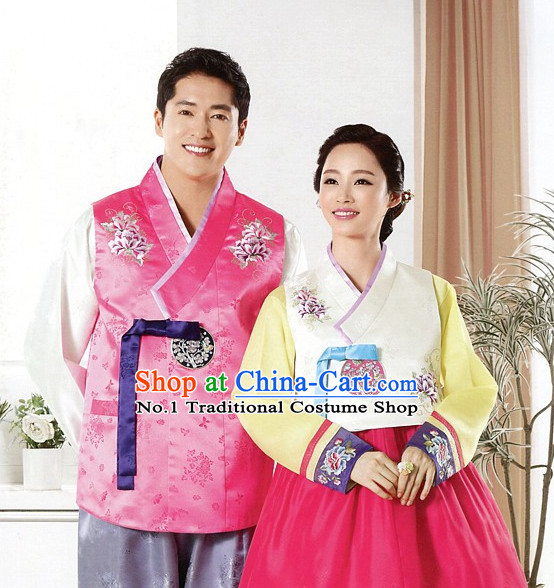 Korean Fashion Traditional Couple Dresses Complete Set for Women