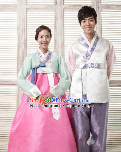 Korean Couple Hanbok Dresses 2 Sets
