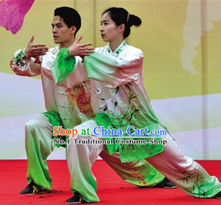 Top Asian Chinese Female Tai Chi Qi Gong Yoga Uniform