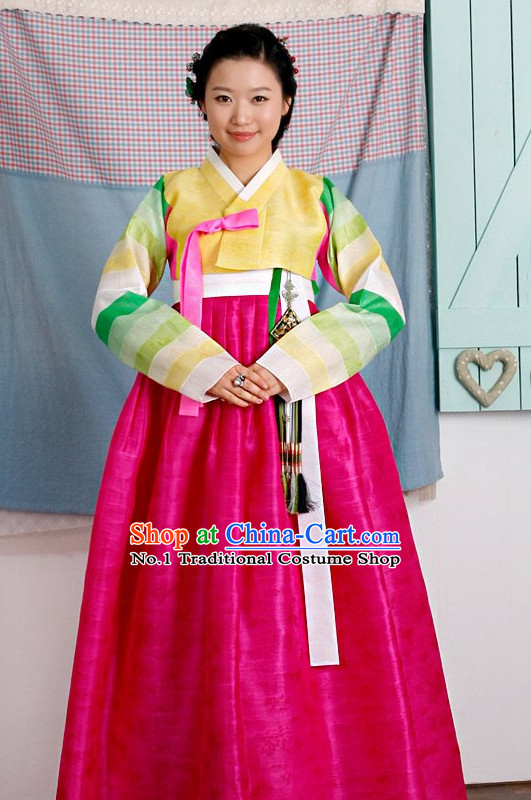 Top Korean Traditional Hanbok Birthday Ceremonial Dress Complete Set for Women