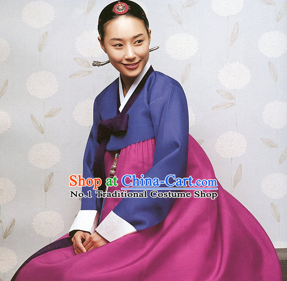 Top Korean Traditional Female Hanbok National Costumes Complete Set
