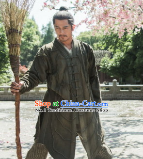China Ancient Kung Fu Master Costumes Complete Set for Men