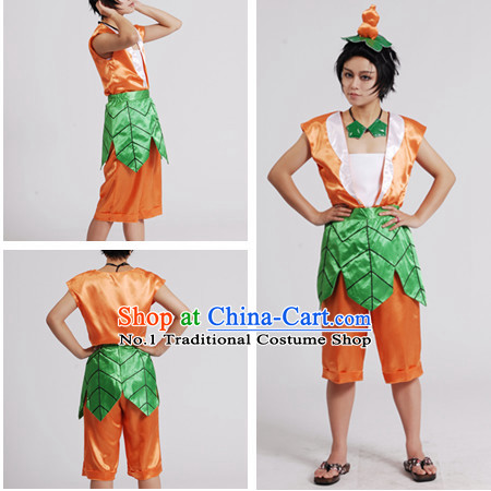Chinese Cartoon Character Gourd Dolls Costumes for Men or Kids