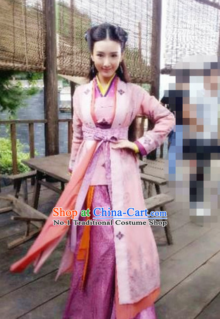 Asian Fashion Swordswomen Costumes Complete Set for Girls