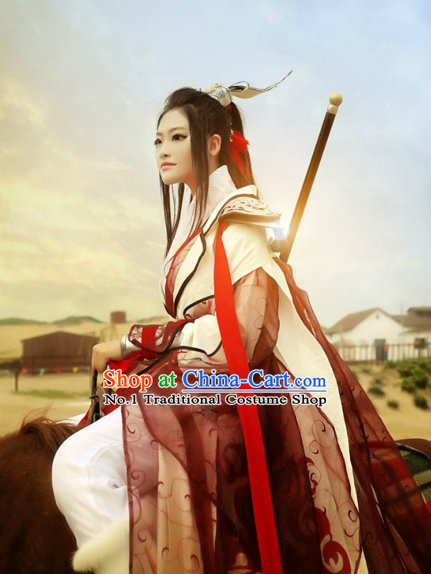 Chinese Costumes Traditional Clothing China Shop Swordswoman Warrior Hanfu Outfit for Women