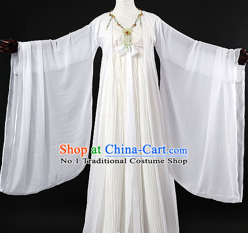 Chinese Pure White Hanfu Cosplay Halloween Costumes Sexy Carnival Costumes Burlesque Kids Costumes