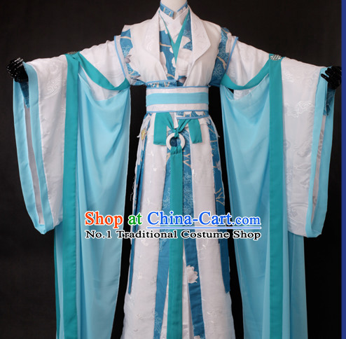 Chinese Male Teacher Halloween Costumes Hanfu Suits Outfits