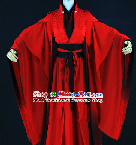 Chinese Red Wedding Hanfu Dresses for Bridegrooms